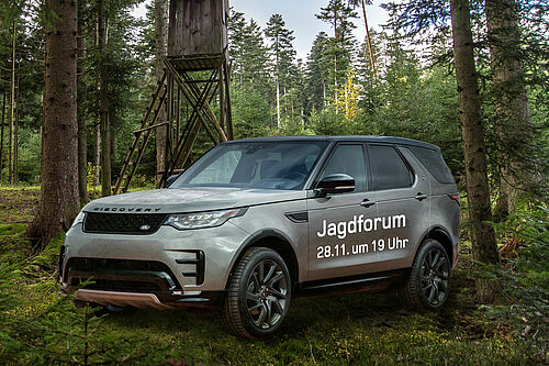 Land Rover Discovery im Wald